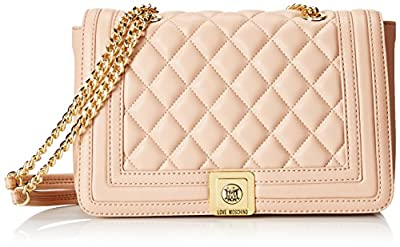 Love Moschino Medium Quilted Flap Cross-Body Bag