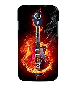 TOUCHNER (TN) Red Hot Guitar Back Case Cover for MICROMAX A111