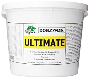 Dogzymes Ultimate Skin and Coat with Algal Oil and Organic Coconut, 4-Pound
