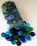 Glass Gems, 4.75 Lb. Bag, Shades of Blues & Greens