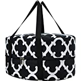 Geometric Clover Print Insulated Slow Cooker Croc Pot Carrier Tote Bag