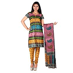 RangoliSF Woman's Cotton Unstitched Dress Material (RSFT1008 Pink)
