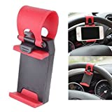 Car Steering Wheel Mobile Phone Socket Holder (Assorted Colour) For Skoda Rapid1.5 TDI CR Ambition (Alloy Wheels...
