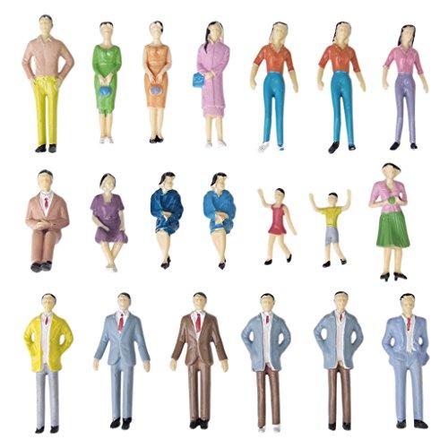 約50体セット 人形 人物 人々 人間 人間フィギュア 塗装人 乗客 情景コレクション ザ ・ 鉄道模型・ジオラマ・建築模型・電車模型に   スケール:1:30