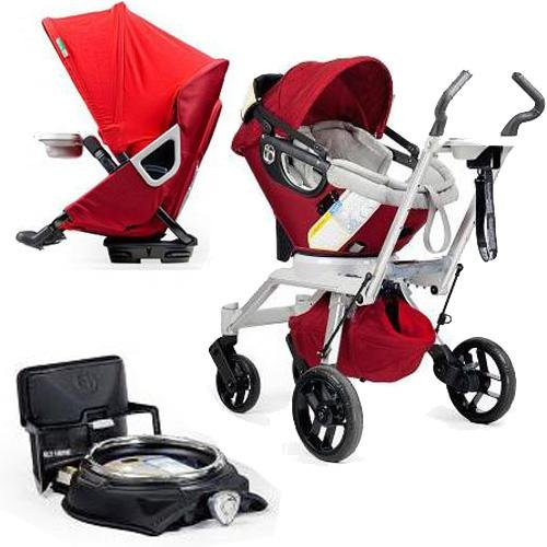 Orbit Baby Stroller Travel System G2 With Stroller Seat G2 New Production Ruby Slate front-809305