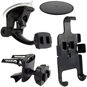 Arkon Windshield with Dashboard and Air Vent Mount for Nexus One (Black)
