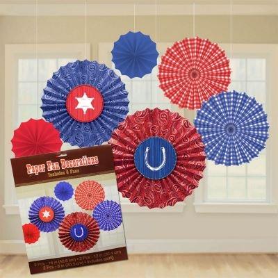 Western Paper Fan Decorations