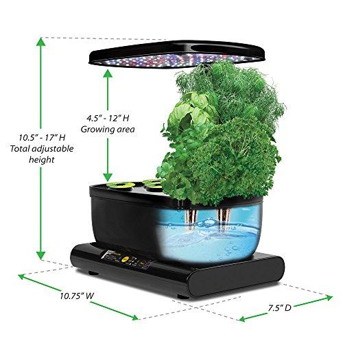 Miracle gro aerogarden harvest with gourmet herb seed pod for Indoor gardening amazon