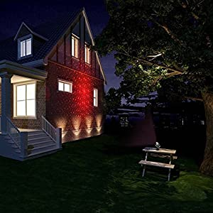 [ANTSIR Stage SpotLights] Waterproof Projector lights with Red & Green Ceiling Sopts for Outdoor Garden/Yard/Wall Family Party KTV Wedding Night Club Decoration from ANTSIR