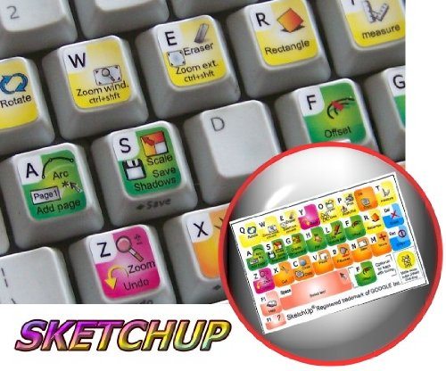 New Google Sketchup Sticker For Keyboard