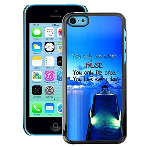 A-type Colorful Printed Hard Protective Back Case Cover Shell Skin for iPhone 5C ( Dock False Blue Live Die Ship Sea Ocean)