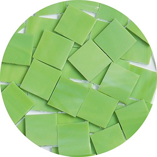 Limited Edition Pre-Cut Fusible Glass Shapes, 1-Inch Square, Spring Fresh, 96 Coe, 10-Pack
