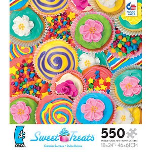 Sweet Treats Jigsaw Puzzle 550-Piece - Blue Anchor by Ceaco