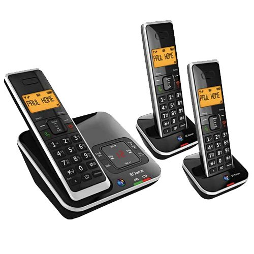BT Xenon 1500 DECT Digital Cordless Phone with Digital Answering Machine & Caller Display - Trio picture
