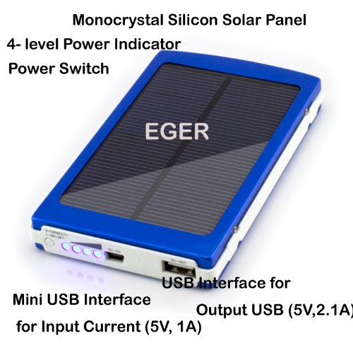 EGER 10000mAh Solar Energy Backup BatteryPower Bank Photo