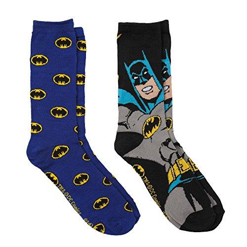 Batman & Logo 2 Pairs Pack Men's Socks - Shoe Size 6-12