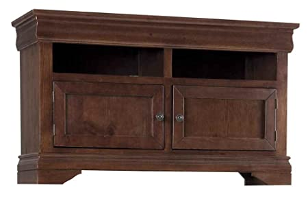 54 in. TV Console Table in Auburn Cherry Finish