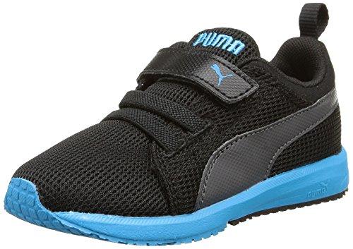 PumaCarson Runner V Kids - Scarpe Running Unisex - Bambini , Nero (Schwarz (black-atomic blue 19)), 34