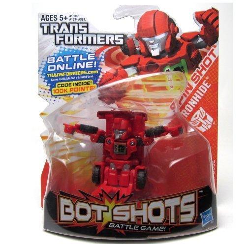 Transformers, Bot Shots Series 2 Figure, Spin Shot Ironhide by Hasbro (English Manual)