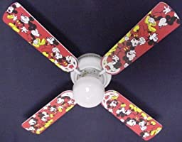 Ceiling Fan Designers Ceiling Fan, Disney Mickey Mouse #1, 42\
