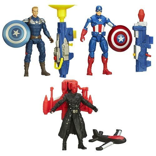 Marvel Universe Captain America 2 The Winter Soldier: Super Soldier Gear Action Figures Wave 1 Set of 3