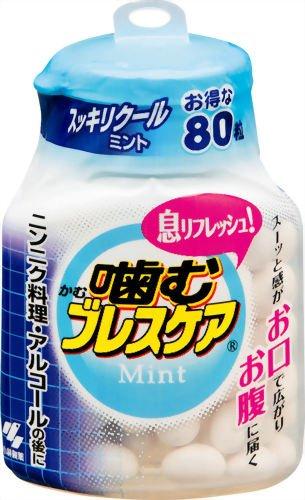 噛むブレスケアボトル スッキリクールミント 80粒