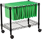Alera FW601424BL Single-Tier Rolling File Cart