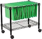 Alera FW601424BL Single-Tier Rolling File Cart