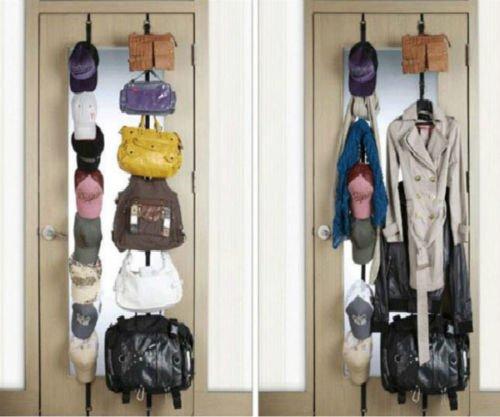 Hot Door Hat Bag Clothes Coat Rack Holder Organizer Adjustable Straps Hanger