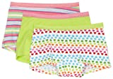 Fruit Of The Loom Girls 7-16 Girls 3 Pack Fresh Collection Cotton Stretch Boyshort, Assorted, 8