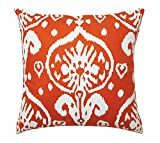 Outdoor Cushions Outdoor Pillows Patio Cushions Cotton Canvas Ikat Orange 18""