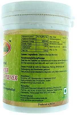 Naturmed's Ayurvedisch Kleines Fettblatt Pulver- Herbal Brahmi Powder - 100g von Naturmed auf Gewürze Shop