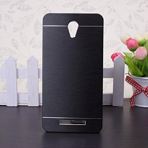 EKINHUI Xiaomi Hongmi Redmi Note 2 Case, Custodia duro di lusso ibridi metallici per Xiaomi Redmi Note 2(Black)