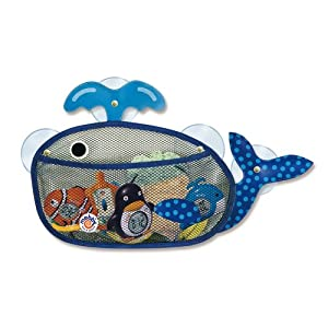 Mebby Mesh Whale Bath Toy Store Bag (Blue Mobby Whale)