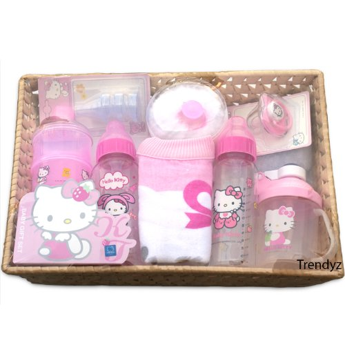 Hello Kitty Baby Gift Sets : New hello kitty pes baby bottles gift set bpa free