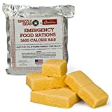 Emergency Food Rations - 3600 Calorie Bar - 3 Day Supply (5 Year Shelf Life) - Less Sugar and More Nutrients Than Other Leading Brands