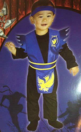 Tiny Blue Ninja Toddler Costume 3t - 4t