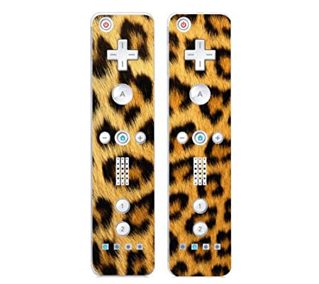 Nintendo Wii Remote Controller Decal Skin Stickers (Set of 2) - Leopard Print
