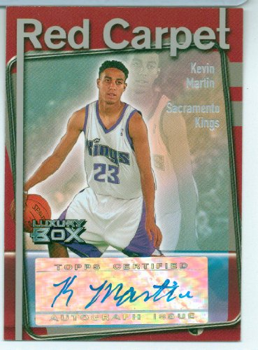 Kevin Martin 2004-2005 Topps Luxury Box Red Carpet Autographed Card #024/135 Timberwolves! at Amazon.com