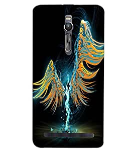 ASUS ZENFONE 2 ANGEL GIRL Back Cover by PRINTSWAG
