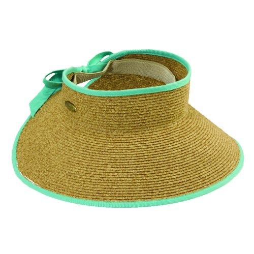cappelli-womens-roll-up-wide-brim-sun-visor-hat-aqua