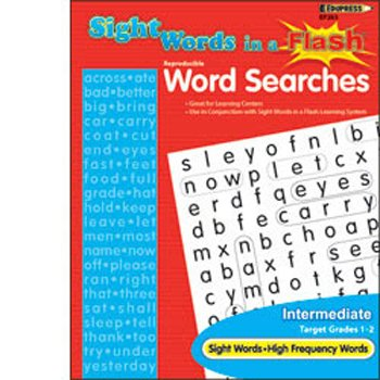 Sight Words in a Flash Word Searches Grade 1-2