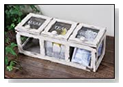 Shabby Cottage Chic Wooden Coffee and Tea Storage Box