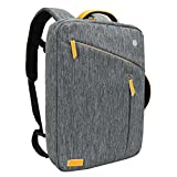 Laptop Briefcase Backpack, Evecase Water Resistant Convertible Laptop Canvas Briefcase Backpack - fits up to 17.3-inch Laptop - Gray