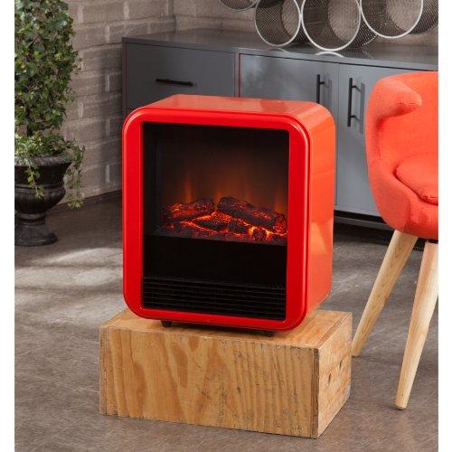Fasser Electric Fireplace - Red-Orange