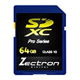 Zectron Digital 64GB SDXC Class 10 HD Memory Card For JVC Everio GZ-E205BEK Camcorder