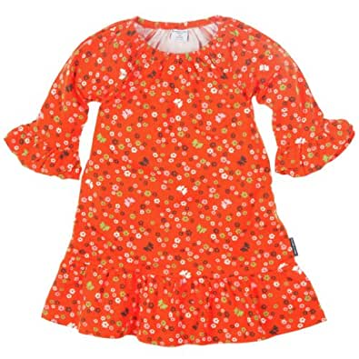 POLARN O. PYRET FALL BUTTERFLY FLORAL FLOUNCE DRESS (2-6 YRS) - 6-8 years/Mineola