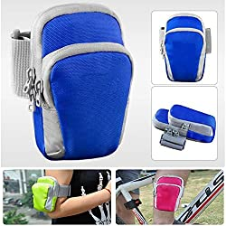 Ewparts Outdoor Sports Running Climbing Cycling Hiking Camping Travel Shoulder Bag Mobile Phone Pouch Bag &Pockets Money Purse Outdoor Sports Running Fitness Expandable Weather Resistant Waist Pack Belt for Iphone 6 ,Iphone 6 Plus,samsung Galaxy Note 3,note 4,lg G2 G3 , HTC One M8 (Blue)