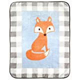 "Luvable Friends Character High Pile Blanket, Blue Fox, 30"" x 40"""