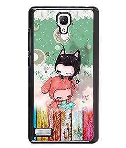 PrintVisa Metal Printed Kartoon Designer Back Case Cover for Xiaomi Redmi Note 4G -D4819